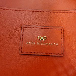 Anya Hindmarch Bags - Anya Hindmarch Woven Red Leather Tote Purse Bag
